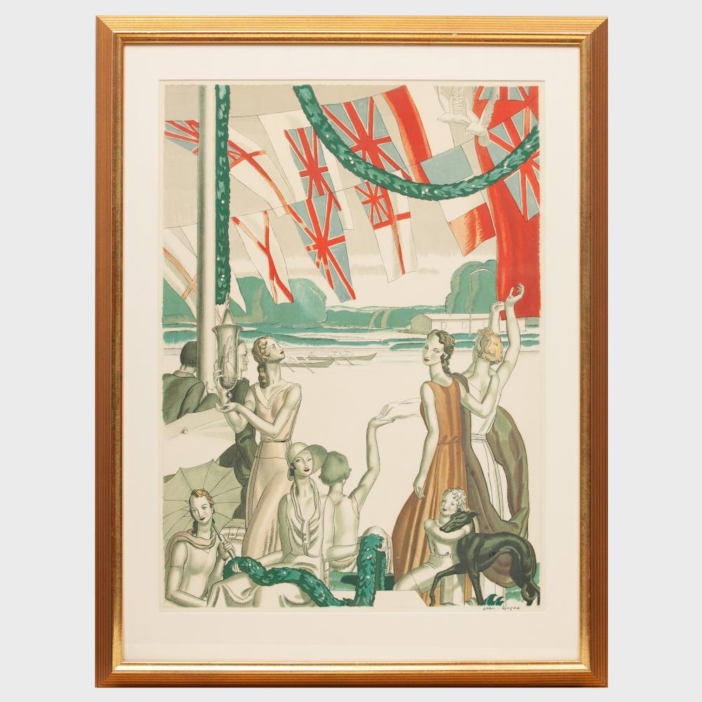 Jean Dupas (1882-1964) Regatta-Time's Pleasant, Richmond