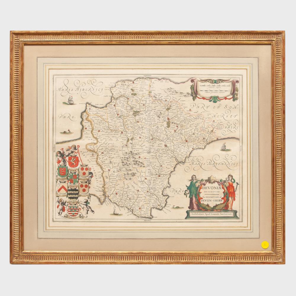 Jan Jansson (1588-1664): The Description of Devon-Shire