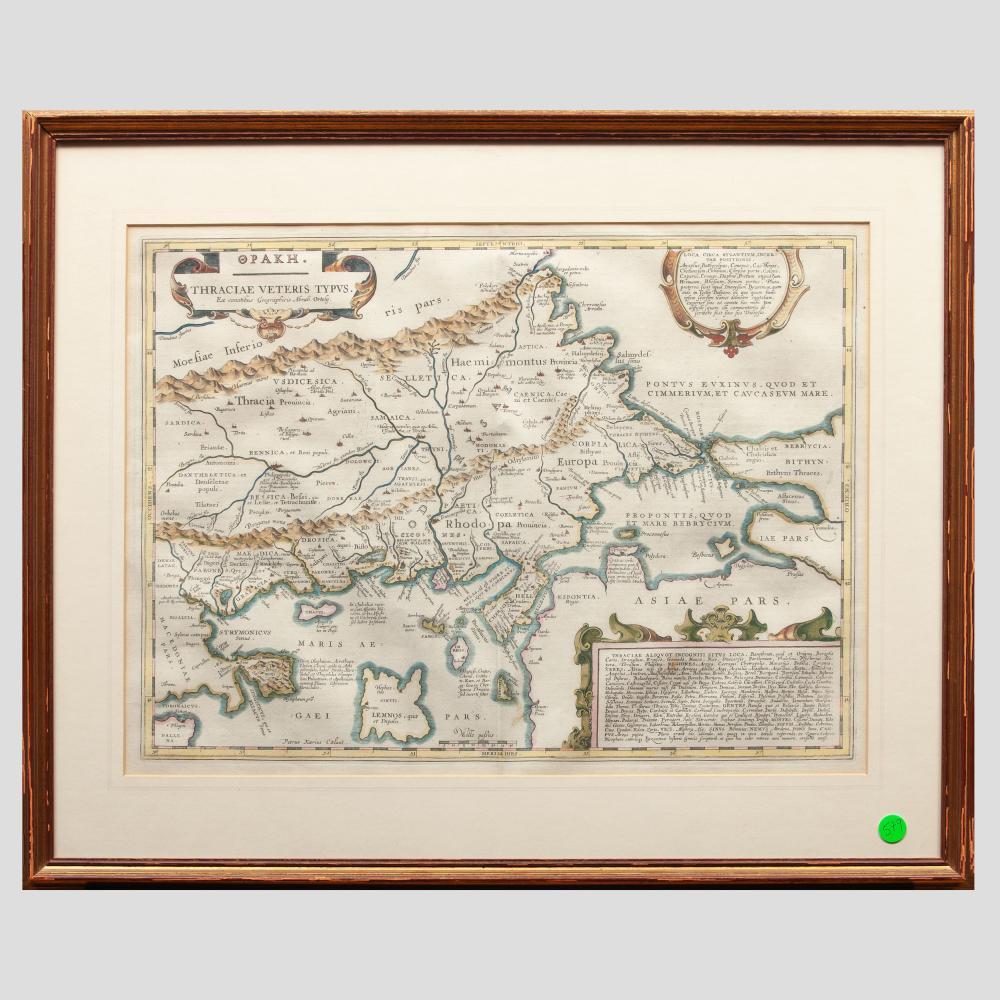 Jan Jansson (1588-1664): Opakh. Thraciae Veteris Typus