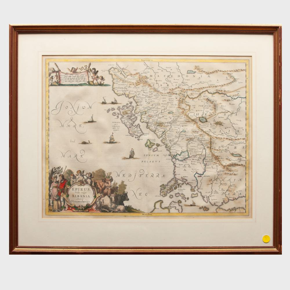 Jan Jansson (1588-1664): Epirus hodie vulgo Albania