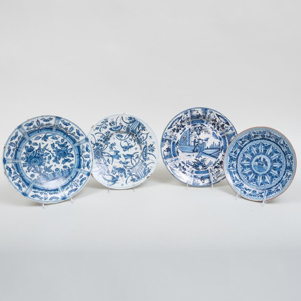 Group of Four Delft Plates