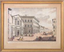 AFTER GIUSEPPE ZOCCHI (1711-1767): VEDUTA DELLA PIAZZA, E CHIESA DI S. GIOVANNINO DE PP GESUITI, E DE PALAZZI DEI SS MARCHESE RICCAR...