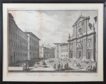 AFTER GIUSEPPE ZOCCHI (1711-1767): VEDUTA DELLA CHIESA DI S. MICHELE BERTELDE DE' P.P. TEATINI, FROM SCELTA DI XXIV VEDUTE DELLE PRI..