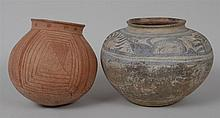 THAI POTTERY JAR IN THE MANNER OF BAN CHIAG AND ANOTHER POTTERY JAR