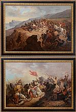 EUROPEAN SCHOOL: PAIR OF BATTLE SCENES OF THE CRUSADES