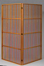 PAIR OF MODERN SYCAMORE SPINDLE SCREENS