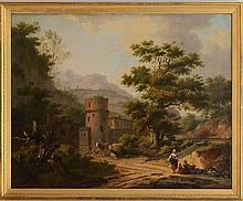 FRANS SWAGERS (1756-1836): MOUNTAINOUS LANDSCAPE WITH A VILLAGE