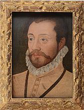 STYLE OF FRANÇOIS CLOUET (1522-1572): PORTRAIT OF A GENTLEMAN IN A MILLSTONE RUFF