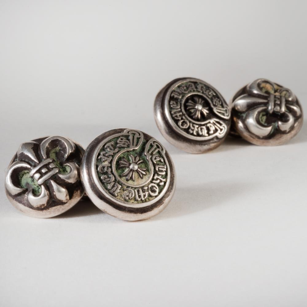 Pair of Chrome Hearts Silver Cufflinks
