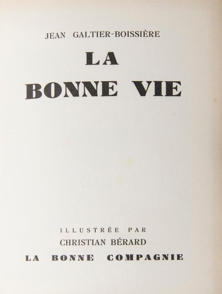 GALTIER-BOISSIÈRE, JEAN: LA BONNE VIE