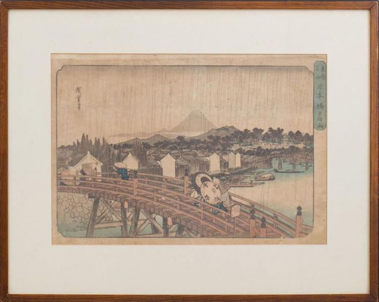 ANDO HIROSHIGE (1797-1858): NIHON-BASHI BRIDGE
