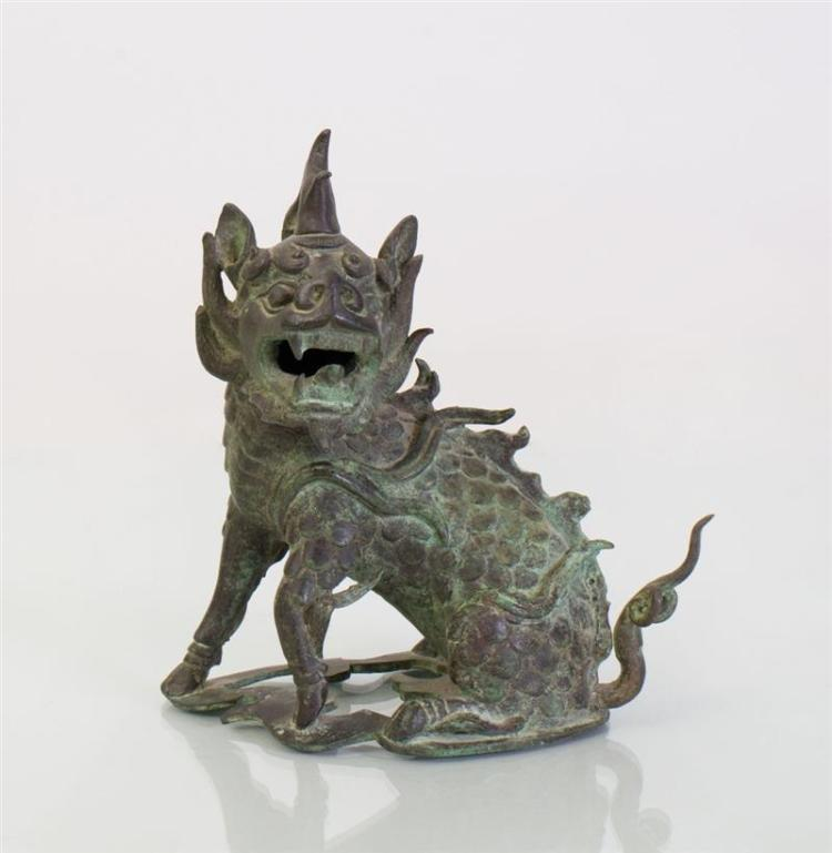 CHINESE BRONZE MODEL OF A KYLIN
