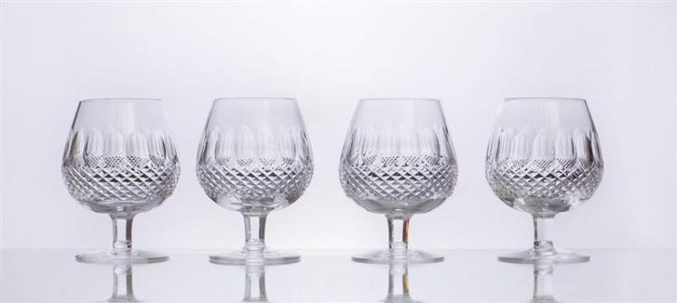 EIGHT WATERFORD CRYSTAL BRANDY SNIFFERS