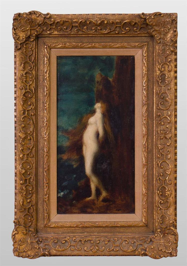 JEAN JACQUES HENNER (1829-1905): LONG HAIRED NUDE
