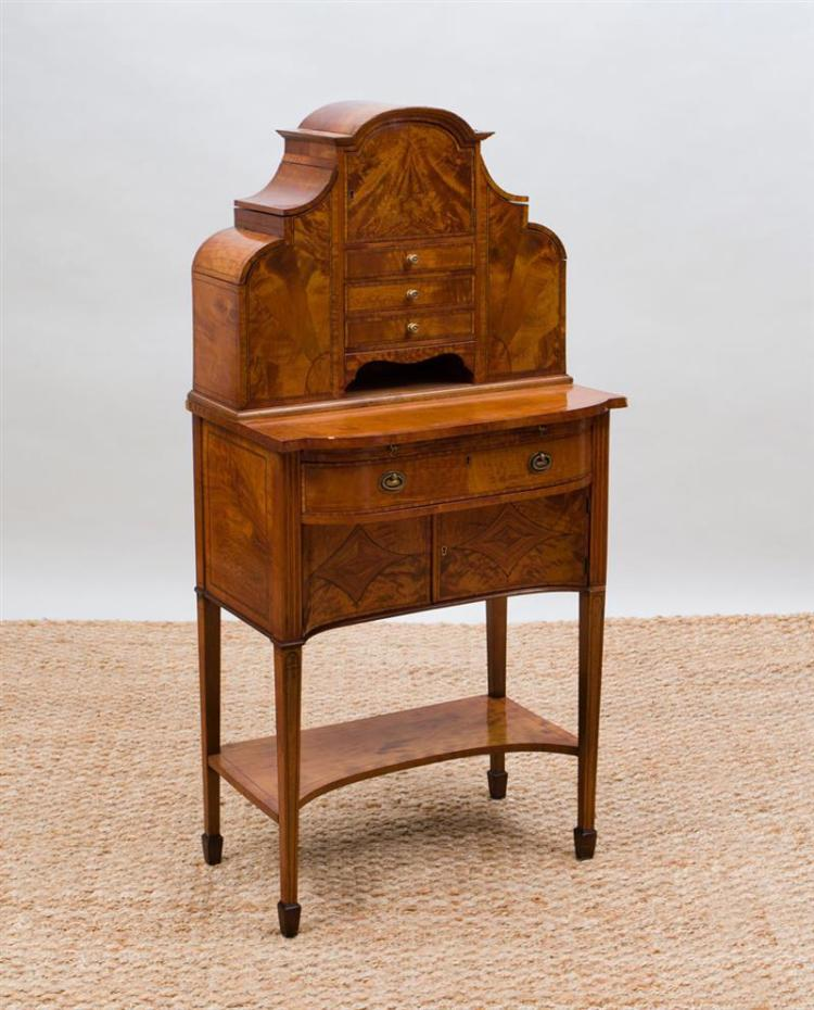 EDWARDIAN INLAID SATINWOOD LADIES WRITING DESK
