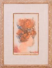 BERNARD REDER (1897-1963): HEAD OF A MEDIEVAL WOMAN