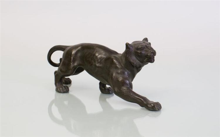 ITALIAN BRONZE MODEL OF A PANTHER