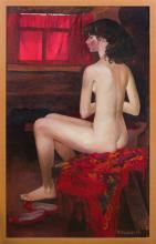 INNA ALEXEYEVNA SHIROKOVA (b. 1937): THE RED SHAWL