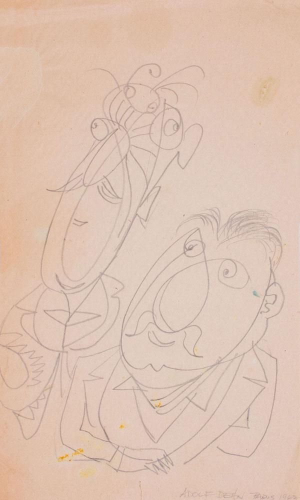 ADOLPH DEHN (1895-1968): TWO PORTRAITS