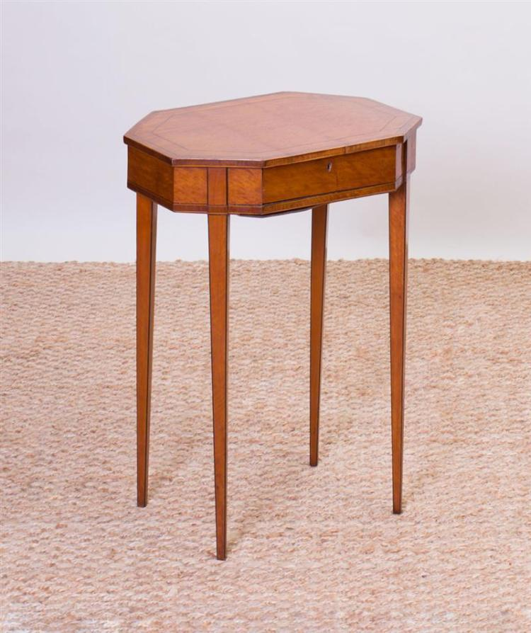 GEORGE III STYLE INLAID SATINWOOD SIDE TABLE