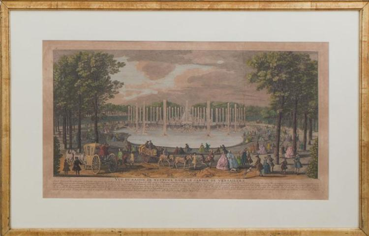 AFTER JEAN-BAPTISTE RIGAUD (1700-1754): JARDIN DE VERSAILLES; AND LA PLACE ROYALLE