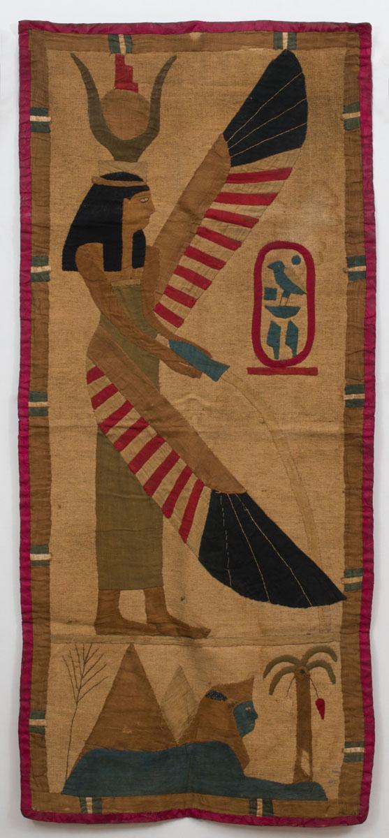 EGYPTIAN STYLE APPLIQUE PANEL