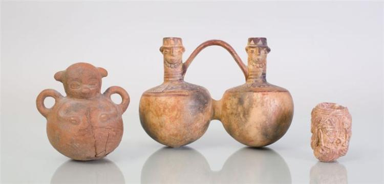 THREE PRE-COLUMBIAN STYLE POTTERY VESSELS