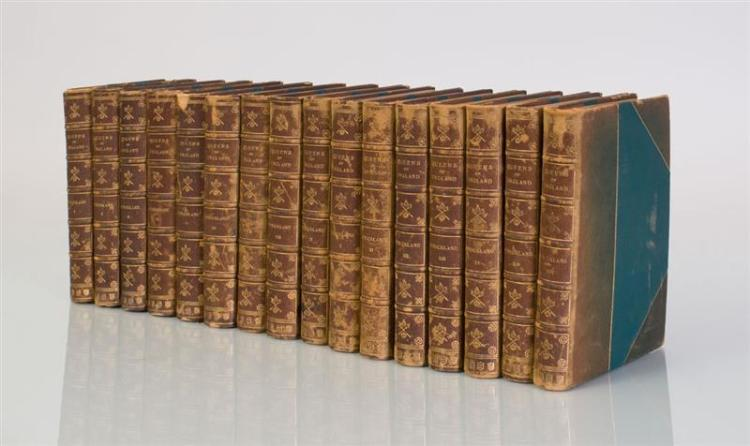 STRICKLAND, AGNES: LIVES OF THE QUEENS OF ENGLAND, IN SIXTEEN VOLUMES