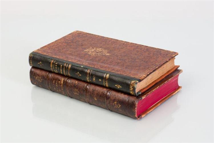 LEATHER-BOUND TROMPE L'OEIL BOOK-FORM BOX