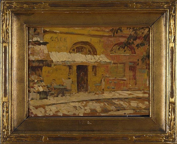 ROY H. BROWN (1879-1956): OLD CAFE