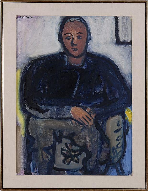 ROBERT DE NIRO, SR. (1922-1993): PORTRAIT OF A YOUNG MAN IN BLUE
