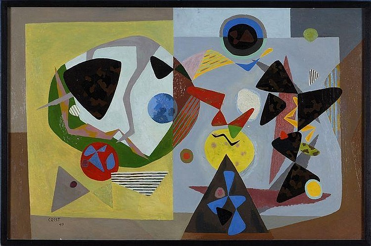 RICHARD CRIST (1906-1985): UNTITLED (ABSTRACT)