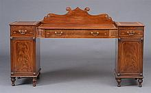 Late Regency Mahogany Pedestal Sideboard