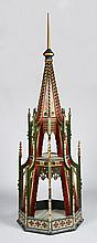 Gothic Revival Painted Wood Model of a Steeple