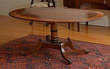Regency Style Inlaid Mahogany Oval-Top Breakfast Table