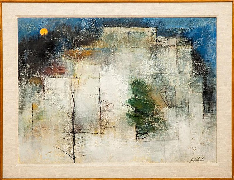 Joseph Barber: Untitled (Trees and Yellow Moon)