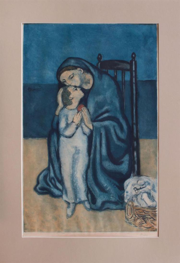VILLON (1875-1963), AFTER PABLO PICASSO: MATERNITÉ