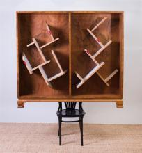 MARTINO GAMPER (b. 1971): CHAIR WITH SHELVES