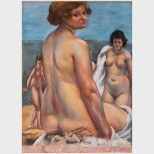 Charles Kvapil (1884 - 1957): Three Nudes
