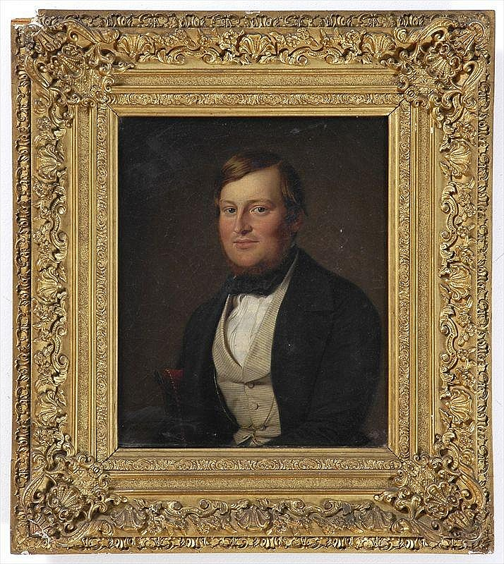 ADOLF HENNING (1809-1900) PORTRAIT OF A GENTLEMAN