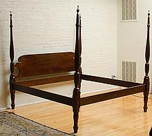 Federal Style Mahogany Four-Poster Bed