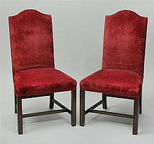 Pair of George III Style Mahogany Side Chairs