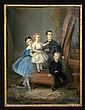 CONSTANT JOSEPH BROCHART (1816-1899): SIBLINGS, Constant Joseph Brochart, Click for value