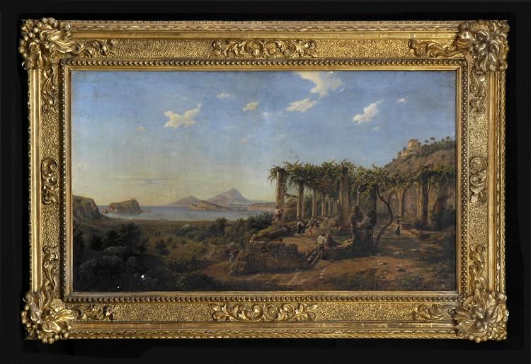JULIUS DE MONTALANT (b. 1823): REVELERS ON THE COAST