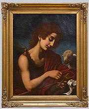 AFTER ONORIO MARINARI (1627-1715): ST. JOHN THE BAPTIST WITH LAMB
