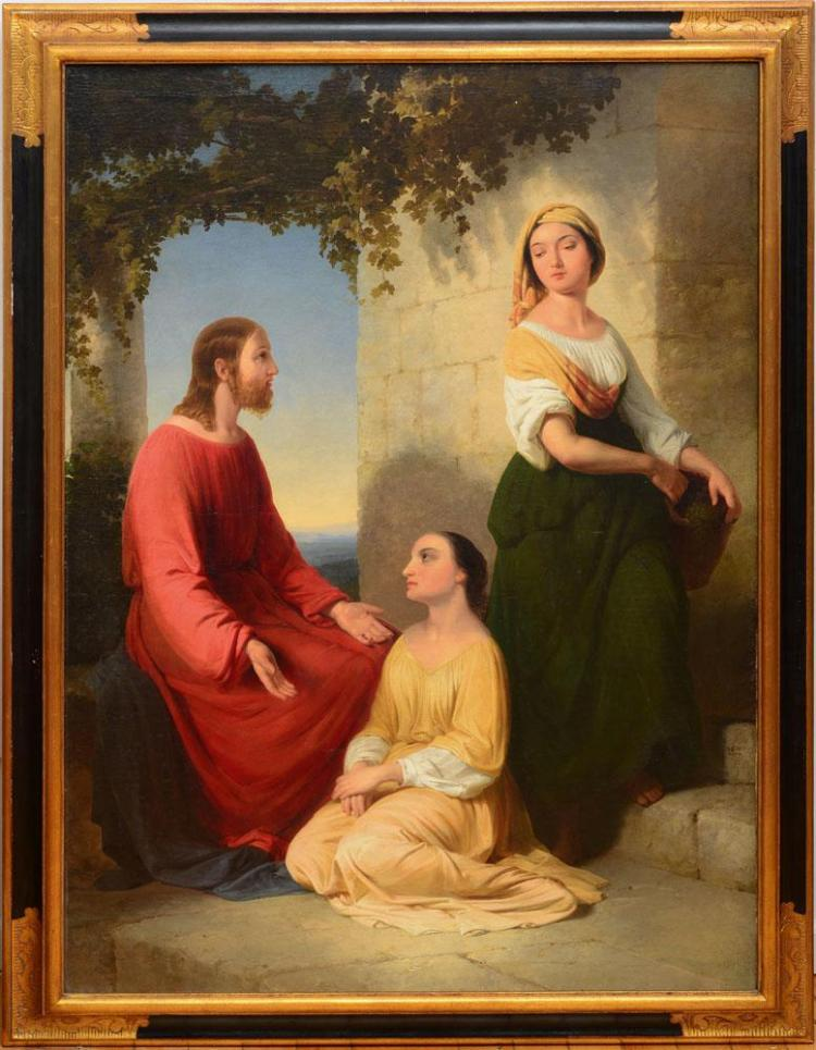 JOHN GADSBY CHAPMAN (1808-1890): CHRIST AND TWO MAIDENS