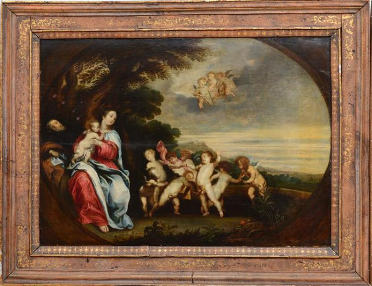 SCHOOL OF ANTHONY VAN DYCK (1599-1641): REST ON THE FLIGHT TO EGYPT