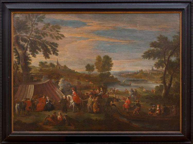 ATTRIBUTED TO PIETOR VAN BREDAEL (1629-1719): A ROYAL OUTING