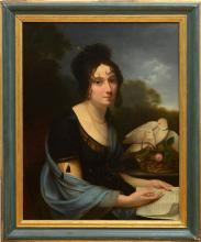 FRENCH SCHOOL: PORTRAIT OF A LADY, SAID TO BE MADAME DE RECAMIER