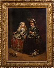 EUGENIO LUCAS (1817-1870): DWARF INFANTA AFTER VELASQUEZ